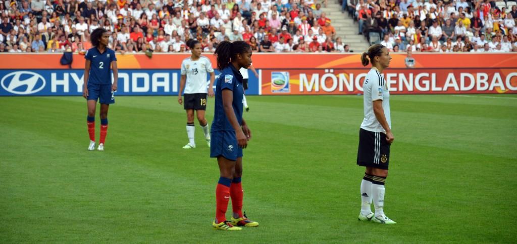 Footballeuse française en match